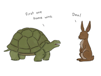 Signed Liz Climo ''The Turtle and the Rabbit, or whatever.